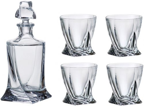 Quadro Decanter 500ml & 4 Glass Set